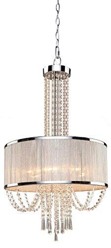 Artcraft Lighting Valenzia 6-Light Drum Chandelier, Chrome