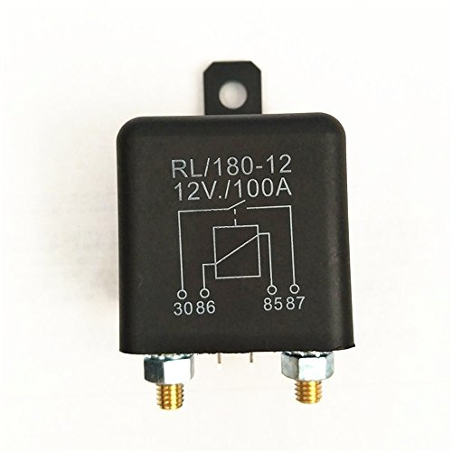 (Car Auto Heavy Duty Split Charge DC 12V 100A 100 AMP SPST Relay 4 Pin 4P RL180)