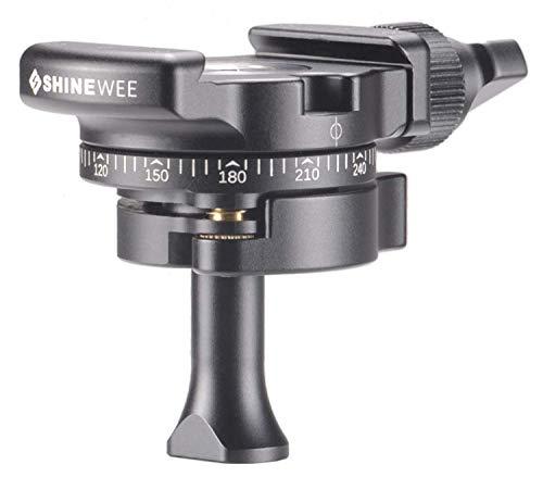 SHINEWEE MPBH18 Mini 360 Panoramic Panning Clamp Low Profile Ball Head for Tripod and Cameras, ARCA-Swiss QA Clamp (Arca Swiss Clamp 80mm)