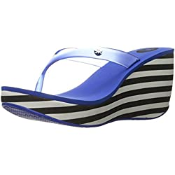 Zaxy Women's Fun Iii Platform Sandal, Blue/Black/White, 7 M US