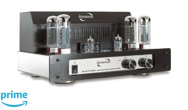 Dynavox VR-70 E II - Amplificador a válvulas para tocadiscos, color negro: Amazon.es: Electrónica