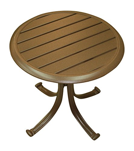 Panama Jack Outdoor Island Breeze Patio End Table with Slatted Aluminum Top (Breeze Furniture Patio)