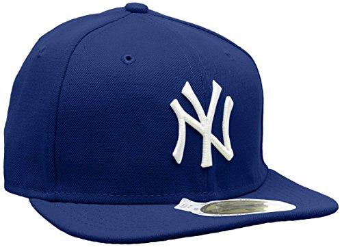 New Era Erwachsene Baseball Cap Mütze Kids Mlb Basic NY Yankees 59Fifty Fitted, Royal/White, 634, 10879078