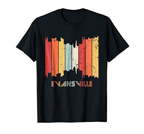 Vintage Eighties Style Evansville IN T-Shirt - Retro Design for $<!--$19.99-->