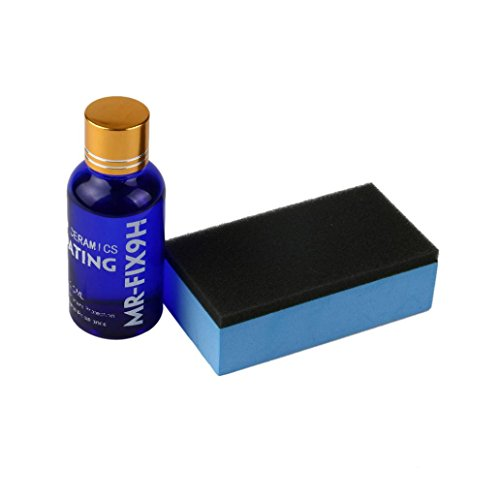 Inkach Ceramic Car Coating Kit, Hydrophobic Glass Coating Car Liquid Auto Paint Care 9H Hardness (Blue) 8 Ml Colour Gloss