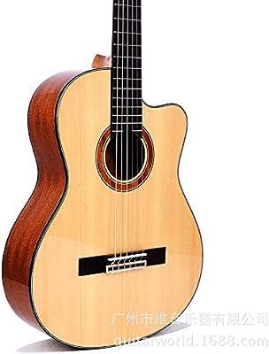 SUNXK El Nuevo 39 Pulgadas Guitarra clásica Spruce Cutaway ...