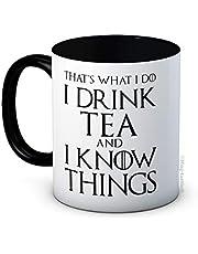 Dat is wat ik doe drink ik thee en ik weet dingen - grappige koffie of thee mok