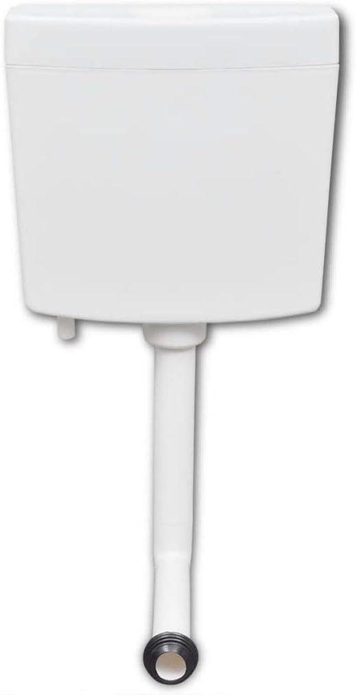 Goliraya R/éservoir de WC 3//6 L Solide et Durable Blanc
