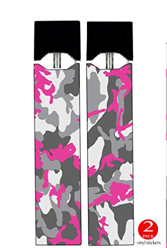Juul Vape (2 PACK) - VINYL DECAL STICKERS - Pink Camouflage Hot Pink Camo - Skin Wrap