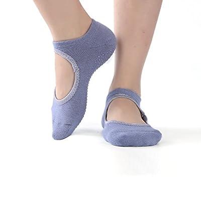 Lady's Yoga Socks Pilates Barre Grip Sock Non Slip anti-Skid Cotton Pilates Grip Gym Socks HCT02