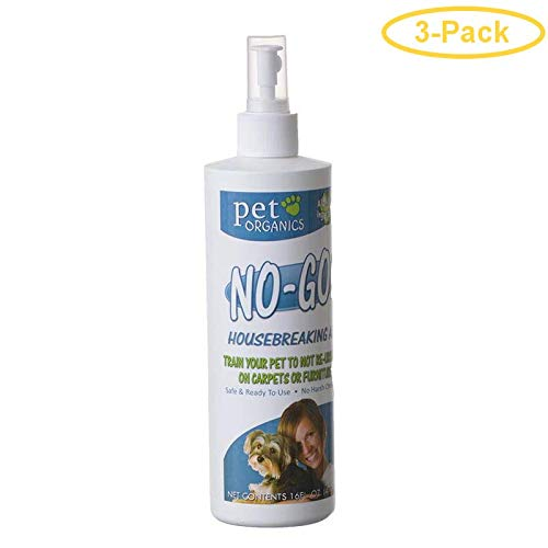 (3 Pack) Pet Organics (Nala) No-Go Housebreaking Aid Dog Spray, 16-Ounce Each by Pet Organics
