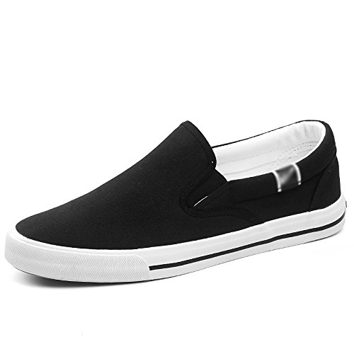 uomo uomo scarpe WFL da scarpe di di uomo nere pedali Scarpe casual Nero scarpe scarpe uomo tela stoffa da da pigre uomo da da TEwEAqa