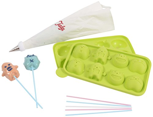 Tala Silicone Monster Cake Pop Mold/Makes 8/With 8 Pop Sticks, Green for $<!--$6.67-->