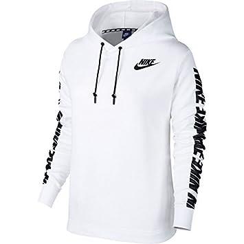 Nike W NSW Advance 15 Hoodie Damen Kapuzenpullover, Weiß Schwarz, XS ... 5fc01654ea