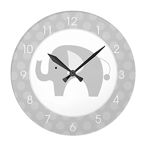Modern Gray Elephant Round Large 10.75