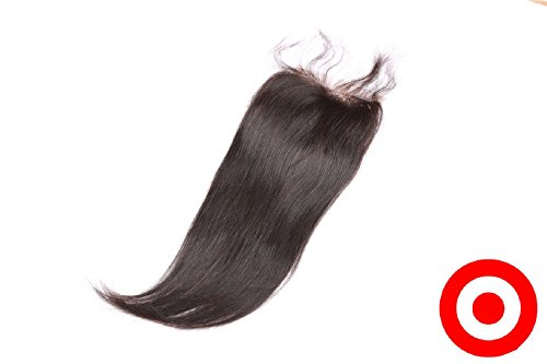 Bleached Knots 18'' Silk Base Closure 4''x4'' Philippines Free Part Virgin Human Hair Natural Straight Natural Colour by DaJun