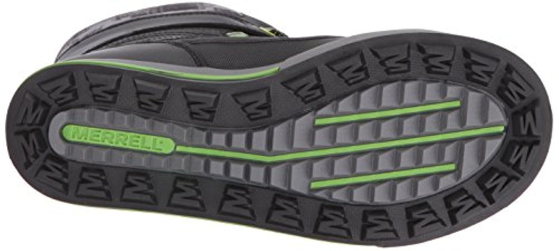 Merrell Boys Snow Bank 2.0 Waterproof High Rise Hiking Shoes, Black (Black/Grey/Green), 1 Child UK 33 EU