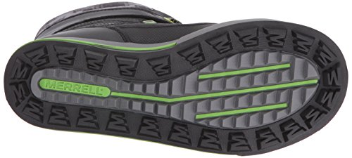 Merrell Snow Bank 2.0 Waterproof, Zapatos de High Rise Senderismo para Niños BLACK/GREY/GREEN