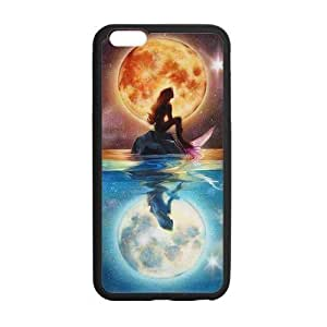 Caitin Little Mermaid Sitting Under the Moon Cell Phone Cases Cover for iphone 4s