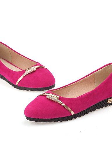 PDX de zapatos negro uk4 mujer us6 redonda morado purple de rosa talón cn36 plano punta eu36 Flats azul Casual rR1wrqEc