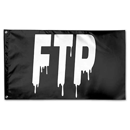 (WINDST Personalized FTP Savage Logo Garden Flag 3x5 ft Outdoor Garden Decorative Banner Black)