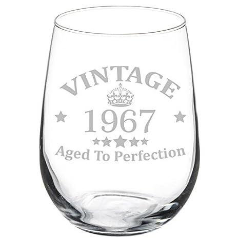 Amazon.com: Copa de vino cáliz 51st cumpleaños Vintage ...