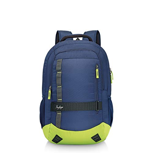 Skybags Geek 48 Ltrs Blue & Green Laptop Backpack with Raincover