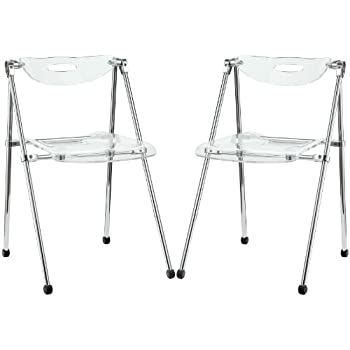 Modway Telescoping Chair In Clear Set Of 2