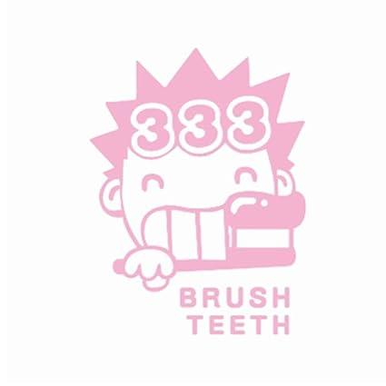 YSFU Pegatinas de pared Cepillo De Dientes Etiqueta De La Pared De Dibujos Animados Decoración para