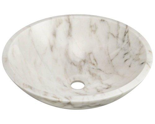 Polaris Sinks PW058 White Granite Vessel Sink - Bowl Stone Bathroom