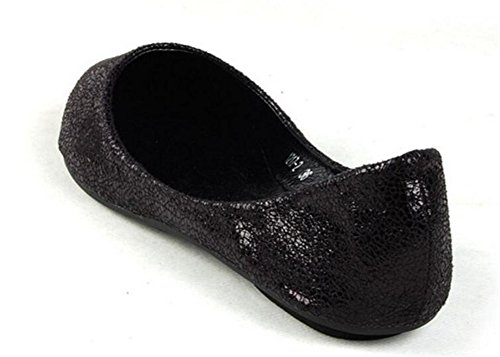 Womens Casual Loafers Ballet Slip On Comfort Flat Shoes Black Z8HLwF32lB
