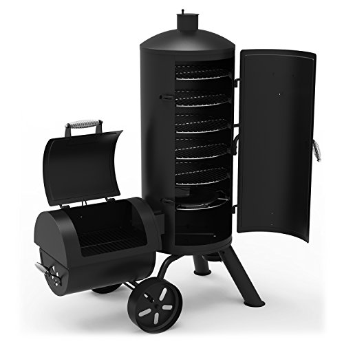 Big Save! Dyna-Glo Signature Series DGSS1382VCS-D Heavy-Duty Vertical Offset Charcoal Smoker & Grill