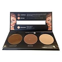 Covershoot Cream Foundation Contouring Palette - Contour, Bronze & Highlight Kit