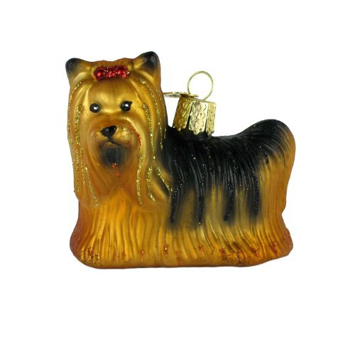 Old World Christmas Dog Collection Glass Blown Ornaments for Christmas Tree Yorkie