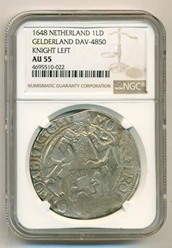 1648 NL Netherlands - Gelderland Knight Left Silver Liard AU55 NGC