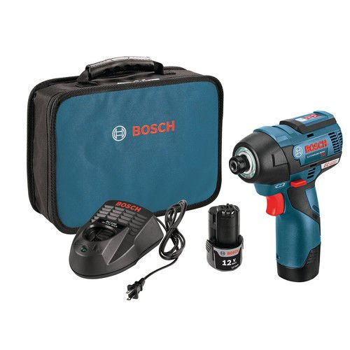 Bosch PS42-02-RT 12V Max 2.0 Ah Cordless Lithium-Ion EC Brushless 1/4 in. Hex Impact Driver Kit (Certified Refurbished)