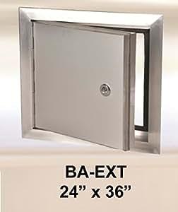 24 X 36 Exterior Access Panel With Piano Hinge Aluminum Home Improvement
