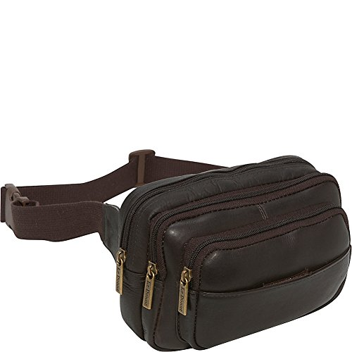 le-donne-leather-four-compartment-waist-bag-one-size-cafe