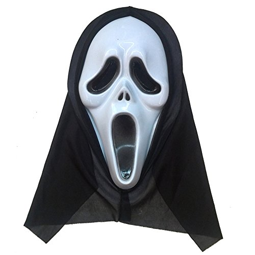 MIQI Halloween Costume Kids Skeleton Cosplay Costume Scary for Boys Girls Perfect for Party (Mask A) (Kids Scary Mask)