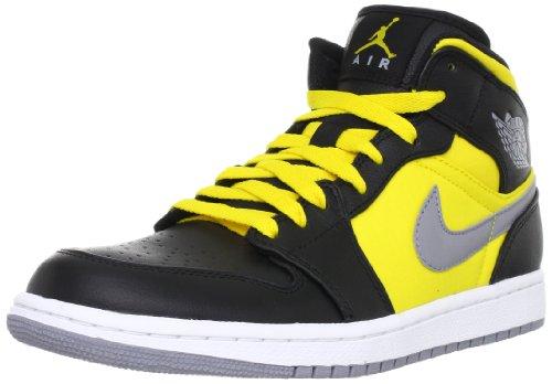 Mens Nike Air Jordan 1 Phat Basketball Shoes Black   Stealth   Speed Yellow  364770-050 Size 11 - Buy Online in Oman.  1c3213745