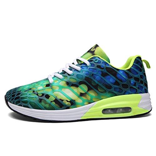 Dannto Road Running Sneakers Leichtathletik-Wanderschuhe für Frauen Männer Grün-a