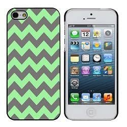 Gray and Green Chevron iphone 4/4s Case by icecream design