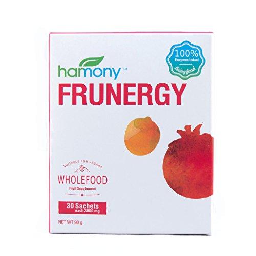 Flavored Optimum Vitamins (Harmony Frunergy Vitamin C Powdered Fruit Drink Mix, 30 x 3g Sachets))