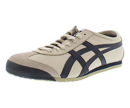 (Onitsuka Tiger Mexico 66 Fashion Sneaker, Birch/India Ink/Latte, 10.5 M Men's US/12 Women's M US)