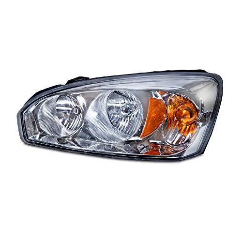 Left Driver Side Head Light Assembly for 2004-2008 Chevy Malibu Maxx, Maxx LS, Maxx LT, Maxx LTZ, Maxx SS - Parts Link # GM2502235 OE # 15851373
