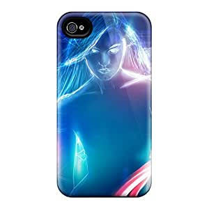 Awesome Design Neon Woman 3d Hard Cases Covers For Iphone 6 by lolosakes