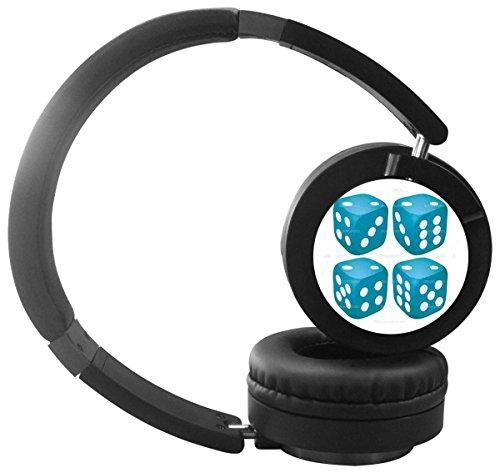 Stereo Bass Over-the-Ear Headphones Headset (Sky Blue) - 7