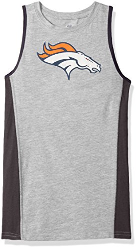 Outerstuff NFL Denver Broncos Youth 8-20 Fan Gear Tank Top, X-Large (18), Heather Grey