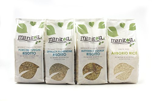 Risotto Collection by Manitou Trading Company featuring Arborio Rice, Butternut Squash Risotto, Porcini Risotto and Spinach Florentine Risotto