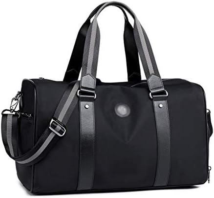 独立した靴と男性フィットネススポーツバッグ短距離旅行バッグゴルフバッグ防水材はブラック、ブルー格納されているアイテムを保護します HMMSP (Color : Black)